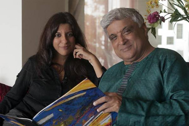 Javed Akhtar with daughter Zoya Akhtar