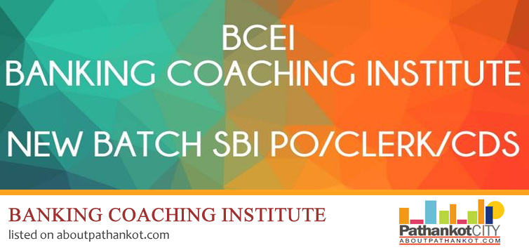 Banking coaching institute Pathankot