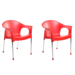 Cello Metallo Cafeteria Chairs set of 2