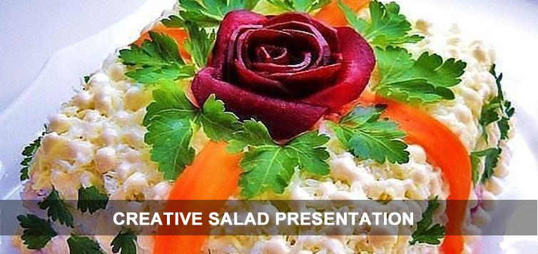 Creative Salad Presentation