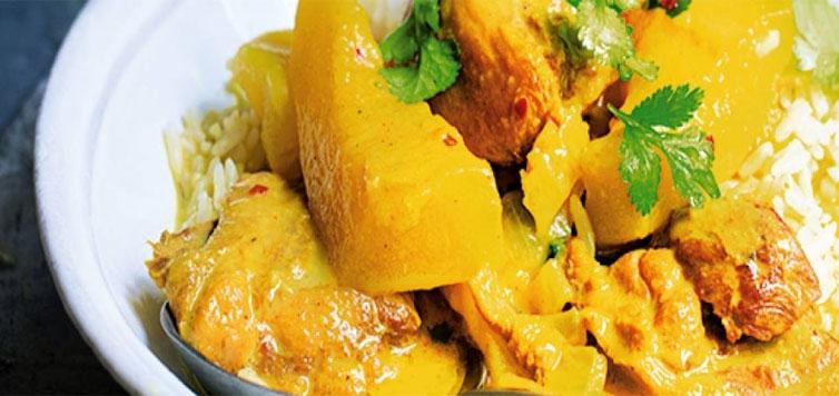 Pumpkin Curry with Chicken Recipe