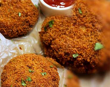 Oats & Rajma Cutlet