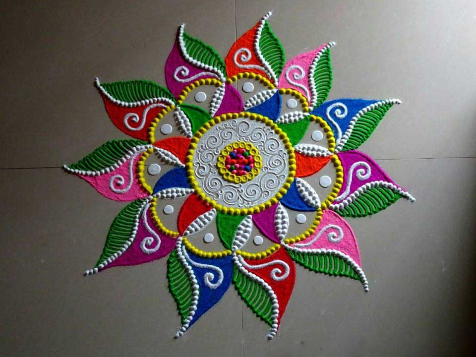 Art Gallery Rangoli Designs