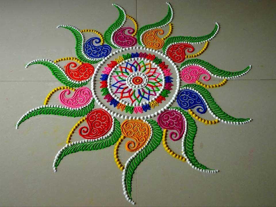 Creative Rangoli Designs Collection For Diwali