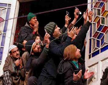 Pelting Stones at Militants