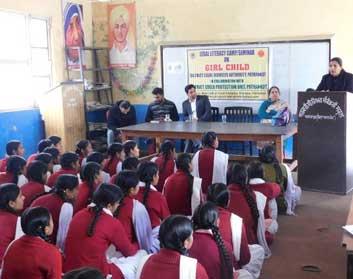 सरकारी स्कूल मलिकपुर में लीगल लिटरेसी सेमिनार आयोजित