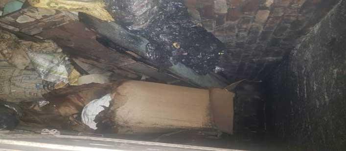 शार्ट सर्किट से लगी कपड़ा गोदाम में आग दो घंटे में बुझाई