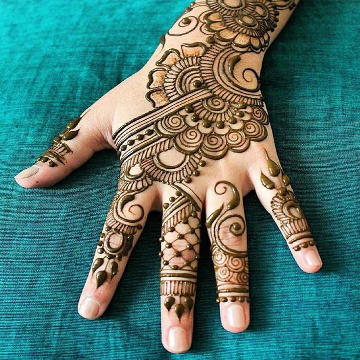 Karva Chauth Mehndi Designs