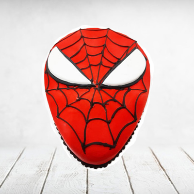 Cake Spiderman Chocolate Oval Eggless