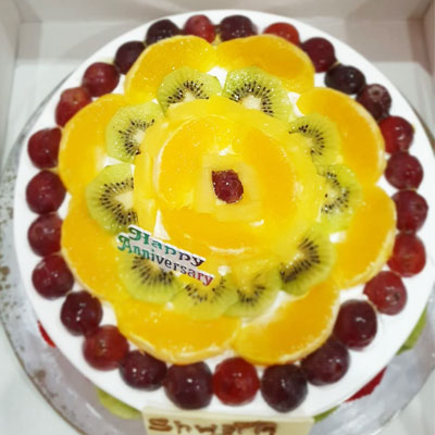 Fresh Fruit Cake 2kg Eggless