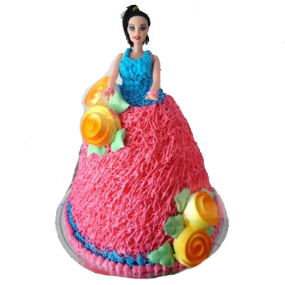Kids Doll Cake 5 Pounds Eggless