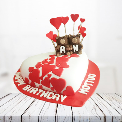 special love heart cake 5 pounds Eggless
