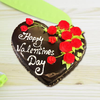 Chocolate Heart Cake 1.5 Kg Eggless