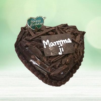 Chocolate Truffle Heart Cake 1kg Eggless ₹ 1250