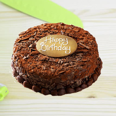 Chocolate Truffle Birthday Eggless Cake Round 1kg ₹ 1350