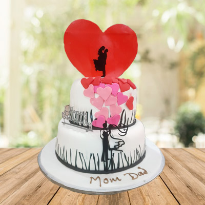 Designer Love Couple Cake 10 Pounds Eggless