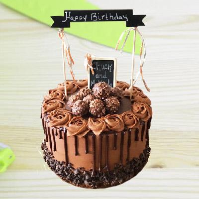 Ferrero Rochers Designer Chocolate Cake 2kg ₹ 2950 Eggless