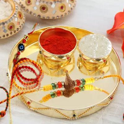 Special Rakhi Roli Chawal Thali