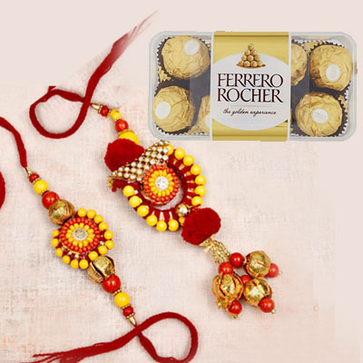 Rakhi and Ferrero Rocher Chocolates