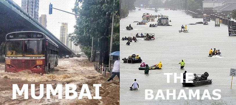 Hurricane Dorian and Mumbai rain
